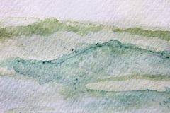 Πράσινες συστάσεις 15 Watercolour ελεύθερη απεικόνιση δικαιώματος