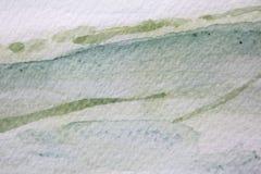 Πράσινες συστάσεις 11 Watercolour ελεύθερη απεικόνιση δικαιώματος