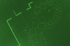 πράσινες τυπωμένες ύλες Στοκ Φωτογραφίες