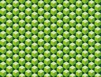 Πράσινη άνευ ραφής σύσταση κύβων ελεύθερη απεικόνιση δικαιώματος