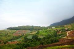 Πράσινη άποψη βουνών στοκ φωτογραφίες με δικαίωμα ελεύθερης χρήσης