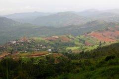Πράσινη άποψη βουνών στοκ εικόνες