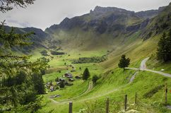Πράσινη άποψη Allmendhubel Ελβετία Στοκ Φωτογραφία