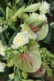 Πράσινη άσπρη floral ρύθμιση Στοκ εικόνα με δικαίωμα ελεύθερης χρήσης