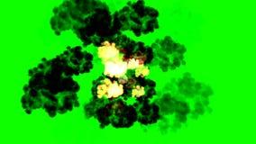 Πράσινη έκρηξη οθόνης διάλυση ελεύθερη απεικόνιση δικαιώματος