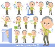 Πράσινη ένδυση grandfather_complex διανυσματική απεικόνιση