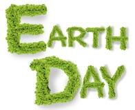 Πράσινη έννοια λέξεων γήινης ημέρας Στοκ Φωτογραφίες