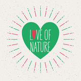 Πράσινη έννοια, αγάπη της φύσης Στοκ Φωτογραφίες