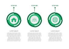 Πράσινη έννοια θέματος στοιχείων Infographic Στοκ εικόνα με δικαίωμα ελεύθερης χρήσης