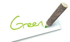 Πράσινη έννοια, ξύλινος κορμός δέντρων μολυβιών οικολογίας ελεύθερη απεικόνιση δικαιώματος