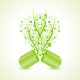Πράσινη έννοια σχεδίου καψών χτύπημα-τεχνολογία ελεύθερη απεικόνιση δικαιώματος