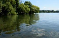 Πράσινη λίμνη στο Σιάτλ στοκ εικόνες