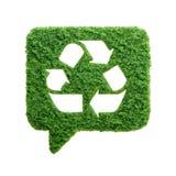 Πράσινη ανακύκλωσης λεκτική φυσαλίδα χλόης που απομονώνεται Στοκ φωτογραφίες με δικαίωμα ελεύθερης χρήσης