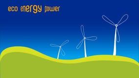Πράσινη ανανεώσιμη έννοια ενεργειακής δύναμης ενεργειακού πράσινη Eco φιλμ μικρού μήκους