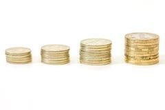 πράσινη αναπτύσσοντας ανάπτυξη χλόης δολαρίων λογαριασμών εκατό χρήματα ένα Στοκ Φωτογραφία