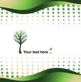 πράσινη απεικόνιση eco έννοιας ανασκόπησης Στοκ Εικόνες
