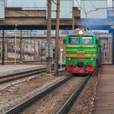 Πράσινη ατμομηχανή diesel στοκ φωτογραφίες