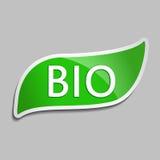 Πράσινη αυτοκόλλητη ετικέττα βιο Στοκ εικόνες με δικαίωμα ελεύθερης χρήσης
