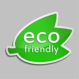 Πράσινη αυτοκόλλητη ετικέττα Eco φιλικό Στοκ Εικόνες