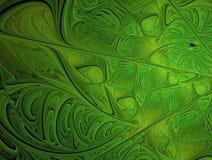 Πράσινη αφηρημένη fractal τέχνη Στοκ φωτογραφία με δικαίωμα ελεύθερης χρήσης