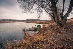 Πράσινη βάρκα Στοκ Εικόνα