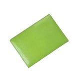 Πράσινη βίβλος σημειώσεων περίπτωσης δέρματος στοκ φωτογραφία με δικαίωμα ελεύθερης χρήσης