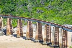 Πράσινη γέφυρα σιδηροδρόμων Στοκ Εικόνες