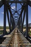Πράσινη γέφυρα σιδηροδρόμων Στοκ εικόνα με δικαίωμα ελεύθερης χρήσης