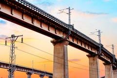 Πράσινη γέφυρα σιδηροδρόμων Στοκ Εικόνα