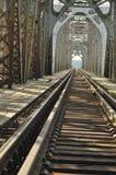Πράσινη γέφυρα σιδηροδρόμων Torah, κατασκευή χάλυβα Στοκ Εικόνα