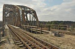 Πράσινη γέφυρα σιδηροδρόμων Torah, κατασκευή χάλυβα Στοκ Εικόνες