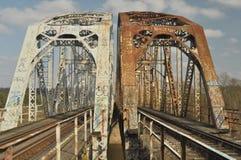 Πράσινη γέφυρα σιδηροδρόμων Torah, κατασκευή χάλυβα Στοκ Φωτογραφίες