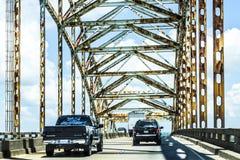 Πράσινη γέφυρα στη Νέα Ορλεάνη Στοκ φωτογραφία με δικαίωμα ελεύθερης χρήσης