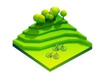 Πράσινη γήινη έννοια κατά τη isometric άποψη Στοκ εικόνα με δικαίωμα ελεύθερης χρήσης