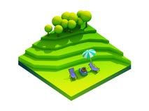 Πράσινη γήινη έννοια κατά τη isometric άποψη Στοκ φωτογραφία με δικαίωμα ελεύθερης χρήσης