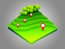 Πράσινη γήινη έννοια κατά τη isometric άποψη Στοκ εικόνες με δικαίωμα ελεύθερης χρήσης