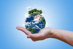 Πράσινη γη Eco στοκ εικόνες με δικαίωμα ελεύθερης χρήσης