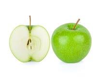 Πράσινη Γιαγιά Σμίθ Apple στο άσπρο υπόβαθρο Στοκ εικόνα με δικαίωμα ελεύθερης χρήσης