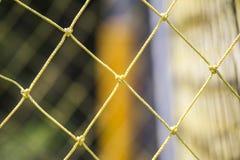 Πράσινη Γραμμή καθαρό λευκό χλόης στόχου ποδοσφαίρου Στοκ Φωτογραφία