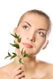 πράσινη γυναίκα φυτών εκμε στοκ φωτογραφία με δικαίωμα ελεύθερης χρήσης
