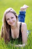 πράσινη γυναίκα χλόης Στοκ εικόνα με δικαίωμα ελεύθερης χρήσης