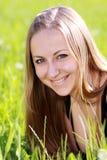 πράσινη γυναίκα χλόης Στοκ Φωτογραφίες