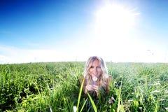 πράσινη γυναίκα χλόης Στοκ Εικόνες