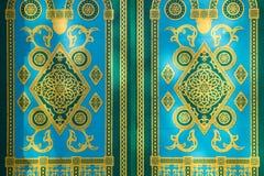 πράσινη διακόσμηση πορτών κί&ta Στοκ Εικόνα