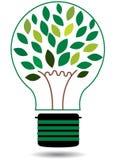 Πράσινη διανυσματική απεικόνιση βολβών ενεργειακών δέντρων Στοκ φωτογραφίες με δικαίωμα ελεύθερης χρήσης