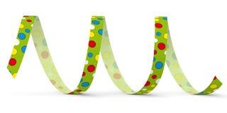Πράσινη διανυσματική ταινία εγγράφου με τα χρωματισμένα σημεία - χτύπημα έξω διανυσματική απεικόνιση