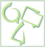 Πράσινη λεκτική φυσαλίδα με ένα πλαίσιο - διάνυσμα Στοκ Εικόνα