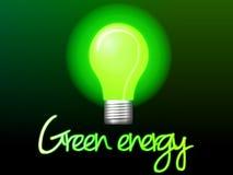 Πράσινη ενέργεια απεικόνισης Lightbulb Στοκ φωτογραφία με δικαίωμα ελεύθερης χρήσης