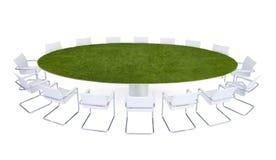 Πράσινη επιτραπέζια αίθουσα συνδιαλέξεων συνεδρίασης Στοκ Εικόνες