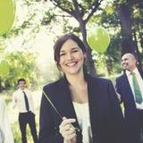 Πράσινη επιχειρησιακή περιβαλλοντική συντήρηση Concep επιχειρηματιών Στοκ Εικόνες
